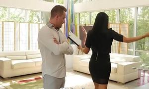 PUREMATURE Busty MILF real estate spokeswoman Romi Rain fucked by big unearth