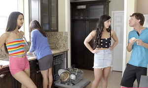 Cupcake debacle with my teen stepsister Whitney Wright and cute friend Eliza Ibarra